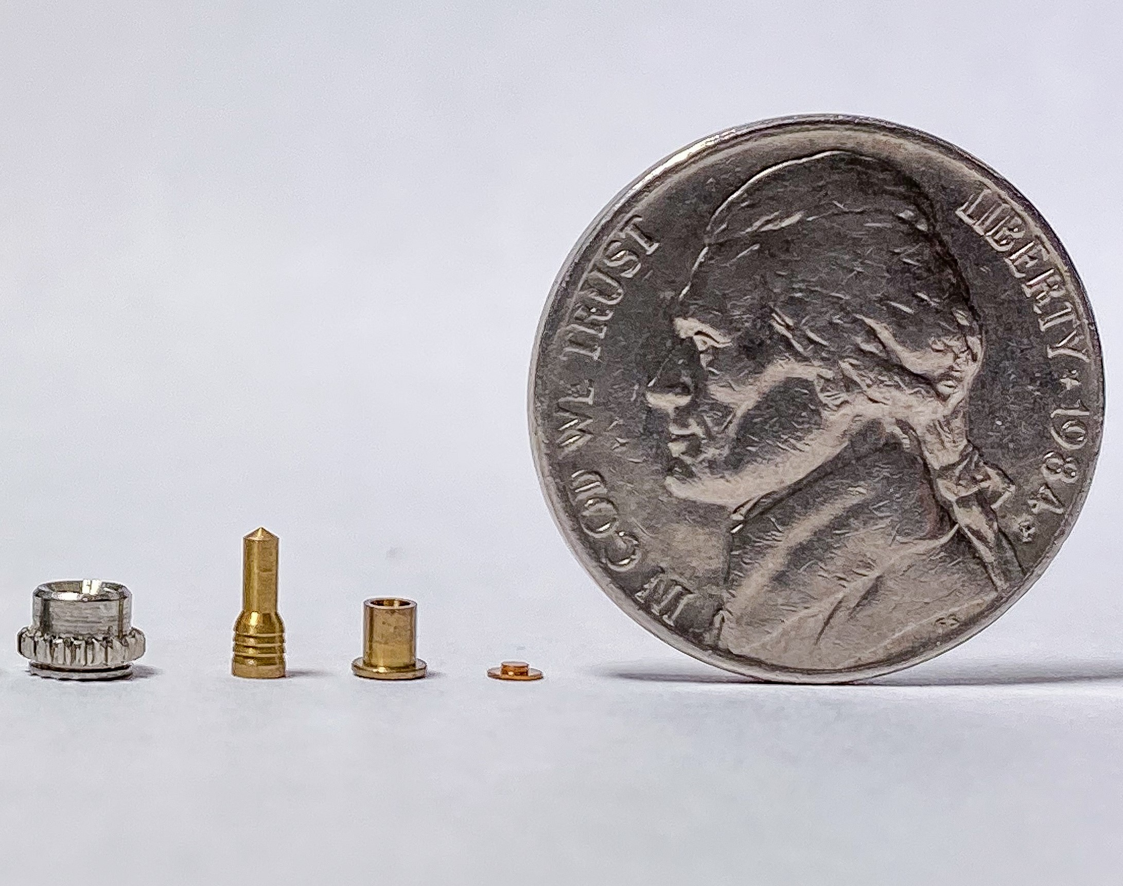 Precision CNC Micromachined Miniature Parts With Nickel
